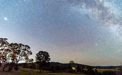 The Milky Way Rural Landsape (Merrillie) Tags: night glitter landscape milkyway astrophotography stars farms planet newsouthwales astro gumtrees nightsky trees country astronomy outside countryside winter planetary galaxy gresford nsw outdoors astrology sky australia