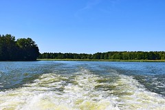 Waves (Pictures in my head) Tags: poland augustow boat trip white waves blue sky green forest holiday with friend family enjoy nature lover discover beauty landscape photography