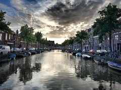 Sunset over Alkmaar (Peter van der Waard images) Tags: streetphotography nature landscape buildings architecture thenetherlands city sunset canal alkmaar
