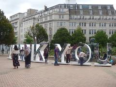 THANK YOU - Victoria Square, Birmingham (ell brown) Tags: victoriasquare birmingham westmidlands england unitedkingdom greatbritain sign thankyou royalbritishlegion ww1 worldwarone firstworldwar thegreatwar memorial floozieinthejacuzzi