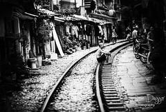0S1A7639b (Steve Daggar) Tags: hanoi travel trainstreet vietnam mono candid blackandwhite street traintracks