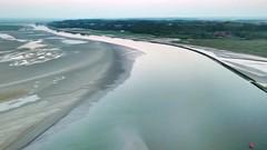 L'Estuaire de la Somme (côté St Valéry / Somme) (guillaume lefebvre) Tags: saintvalerysursomme coucherdesoleil drone dji baiedesomme embouchuredelasomme
