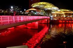 Clarke Quay, Singapore. (Manoo Mistry) Tags: nikon nikond5500 tamron tamron18270mmzoomlens singapore nightscene night nightscape lights river singaporeriver