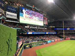 Minute Maid Park, Houston, TX (- Adam Reeder -) Tags: minute maid houston texas tx united states baseball astros cab pitcher monitor slot grocerystore scoreboard park television loudspeaker stage screen umbrella y2018 m06 d19 lat300 lon950 old chinatown harris photo jpg apple iphone x person