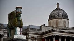 The Nation (David Ian Ross) Tags: deity bull winged july gallery national nation lamassu the invisible enemy should not exist michael rakowitz fourth plinth sculpture trafalgar square nergal gate nineveh 700 bc iraqi datesyrup cans tin mosul iraq rain