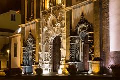 beleuchtet (grasso.gino) Tags: azoren acores sãomiguel pontadelgada nikon d5200 kirche church portal doorway nacht night beleuchtet illuminated