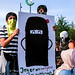 Protest against burka/niqab ban i Copenhagen
