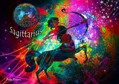 My Sagittarius Zodiac (brillianthues) Tags: zodiac sagittarius colorful collage photography photmanuplation photoshop