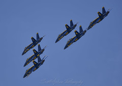 Blue Angels Formation (Scott_Nelson) Tags: seattle washington unitedstates us seafair aircraft airplanes airshow boeingfield