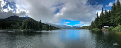 Summer Panorama (Serthra) Tags: iphonography iphone iphone8plus mountains mountain landscape lake lakeside whistler clouds nature summer panorama reflections sky weather britishcolumbia canada afternoon beautiful water blue