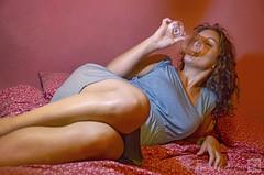 Voluttà (frammenti di nuvole) Tags: donna ritratto calice vino woman wine nikonflickraward sexy rome italy italiana sensuale rosso red ricci