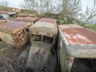 Abandoned US military vehicles