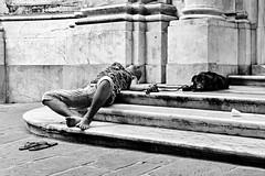 Genova (ale neri) Tags: street bw people dog aleneri genova italy italia streetphotography blackandwhite alessandroneri