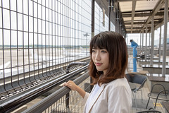 Young business woman at airport observation deck (Apricot Cafe) Tags: img101718 asia asianandindianethnicities canonef2470mmf28liiusm japan japaneseethnicity millennialgeneration narita naritainternationalairport airtransportbuilding airplane airport business businessfinanceandindustry businesstravel businesswoman carefree chibaprefecture colorimage confidence day expectation happiness lifestyles longhair matchingoutfits men observationpoint oneperson oneyoungwomanonly outdoors passenger people photography realpeople sideview sky smiling success suit tourism tourist travel waistup women youngadult jp