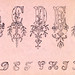 Embroidery samples, plate number 13 by Jose Guadalupe Posada (1852-1913). Original from Library of Congress. Digitally enhanced by rawpixel.