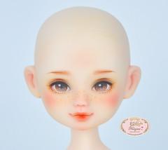 Vinyl doll Pumpkin head (♥..Nomyens..♥) Tags: bjd balljointdoll toy doll custom faceup paint painting painted repaint handmade nomyens nomyenscom vinyldoll tiny tinydoll