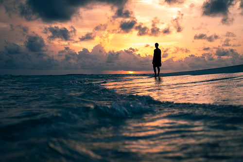 At sunset - Maldives - Travel photography