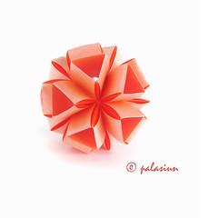 Snapology Kusudama (polelena24) Tags: origami modular kusudama snapology strips
