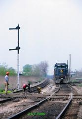 B&O 6967                  5-22-80 (C E Turley) Tags: railways railroads trains bo gp30
