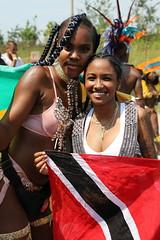 Trinidad + Jamaica (Chuck Diesel) Tags: caribana2018 cleavage tall short costume parade people flags trinidad jamaica glitter toronto caribbeancarnival masqueraders