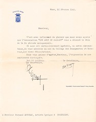 ANSSEAU, Fernand: VILLE DE MONS, congratulations on the attribution of the PRIX DU HAINAUT, 21/02/1940 (Operabilia) Tags: claudepascalperna opera lirica goldenage fernandansseau mariecornélis operabilia dominiquejpréaux dominiquepréaux mons prixduhainaut
