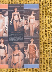 "Seoul Korea vintage pictorial in Sunday Seoul magazine circa 1980 - ""A Revealing Report"" (moreska) Tags: seoul korea vintage korean magazine fashion pictorial bikini revealing lowcut sexy fashions lace polkadot runway hangul graphics fonts models beauty 1980s history publications archive collectibles museum rok asia"