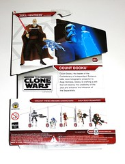 count dooku cw27 star wars the clone wars red white card basic action figures 2009 hasbro mosc b (tjparkside) Tags: count dooku star wars clone cw27 cw 27 tcw basic action figure figures hasbro 2009 red white card packaging separatist confederacy independant systems cape holographic projector asajj ventress separatists lightsaber force lightning hologram projection alternate right hand captain rex r2d2 r2 d2 astromech droid ahsoka tano rotta huttlet commander cody destroyer droids