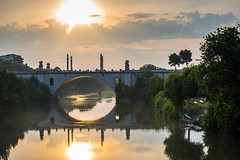 Vista romantica (Ponte flaminio - RM) / Romantic view (Flaminio Bridge - RM) (Stefano Innocenzi) Tags: roma riflessi ponte nuvole paesaggi vista magia atmosfera romantica flaminio