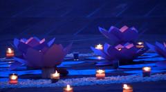 decorations_238 (Manohar_Auroville) Tags: auroville sri aurobindo gathering amphitheatre matrimandir bonfire dawnfire birthday manohar luigi fedele