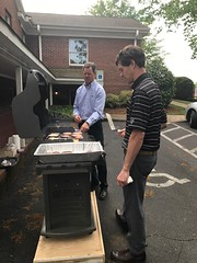 Grilling up at a quarterly luncheon