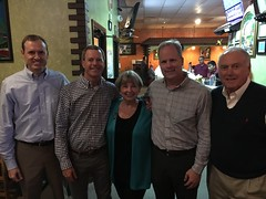 Celebrating Paula at her retirement party