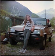 .made for the future (Herr Benini) Tags: future renault5 r5 renault film analog 120 6x6 kiev88 car mediumformat