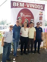 18/08/18 - Festa das Azaléias em Araricá. Como vereador Oseas Garcia, Jaime Beneti, Fábio Corrêa e Daniel Kruger.