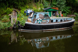 Gipsy on the Rochdale Canal, Hebden Bridge