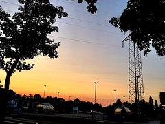 We spend so much of our life looking - but never seeing (Bob Ross) (RenateEurope) Tags: 2018 renateeurope skyscape trees landscape urban iphoneography sunset rheinland germany