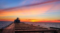 Big Sky Sunset on the Big Lake (knutsonrick) Tags: greatlakes lakesuperior asc clouds lake boat americansteamshipcompany mvamericanspirit pellets taconite zugisland zug ussteel greatlakesworks detroit michigan