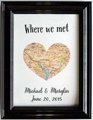 Gifts For Him : Custom Wedding Anniversary Gift For Couples Personalized Map Art Engagement Gift… (giftsmaps.com) Tags: gifts