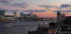 Dawn over Sliema (kate willmer) Tags: dawn sunrise city buildings clouds estuary harbour sliema malta