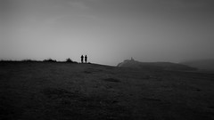 We stayed so close to the edge (parenthesedemparenthese@yahoo.com) Tags: dem 2018 bn bw couple landscape monochrome nb noiretblanc sevensisters silhouettes uk unitedkingdom angleterre blackandwhite bnw byn canon600d ef24mmf28 england extérieur highcontrast juillet july lighthouse outdoor phare summer été