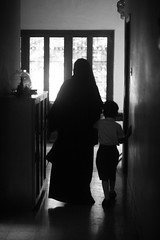 The Second Day (N A Y E E M) Tags: shezin wife mother son umar kalam today morning light availablelight atmosphere indoors schooldress corridor home rabiarahmanlane chittagong bangladesh vertical