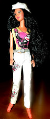 Just taking a short Walk (marieschubert1) Tags: barbie doll fashion toy cloth hair beauty girl hat baseball cap walking outfit wavy curly dark black leisure collecting mattel