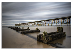 TWO ROUTES TO NOWHERE (lynneberry57) Tags: steetleypier hartlepool pier beach coast sand sea tide nature clouds light longexposure canon 70d leefilters seascape landscape decay night summer old