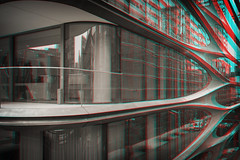 New York, New York (DDDavid Hazan) Tags: newyork ny nyc newyorkcity manhattan highline architecture apartment terrace reflection glass window perspective abstract blackandwhite anaglyph 3d bwanaglyph blackandwhiteanaglyph 3danaglyph 3dstereophotography redcyan redcyan3d stereophotography stereo3d