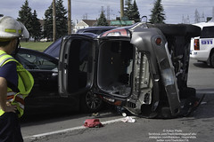 4 Vehicle MVA With Rollover Niagara Falls Blvd and Packard Rd. (The Action Niagara Falls) Tags: crash mva motorvehicleaccident amr accident actionphoto niagarafallsny niagaracounty nffd nfpd rollover
