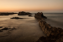 calmness (tasos st) Tags: rocks sea canon eos 500d somewhere formations rock whenthesungoesdown calm peace quiet sky whilethesunsets colour water longexposure filter polarized dusk ocean 2018 summer august
