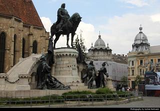 Monumentul Matia Corvin & Piața Unirii, Cluj-Napoca, Romania