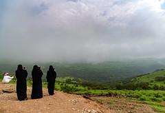 Khofar Khareef Visitors (Packing-Light) Tags: middleeast oman omani salalah khareef sultanate people culture abaya niqab burqa landscape valley mist fog mountain khofar
