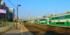 Meanwhile, back in TO, a bench awaits me (Trinimusic2008 -blessings) Tags: trinimusic2008 judymeikle urban bench hbmtoronto to ontario canada summer august 2018 hot gostation afterparade cityskyline dusk traintracks gotransit regionalpublictransit sonydschx80