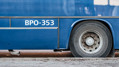 Ikarus 260 (ac.Zadam) Tags: bpo353 ikarus 260 budapest hungary bkv bkk oldtimer bus detail tire tyre exhaust pipe side shiny vehicle public transport reflection royal blue