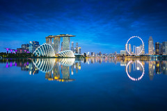 Singapore city skyline at dusk (Patrick Foto ;)) Tags: 2018 architecture asian background bay blue building business center central city cityscape commercial copyspace district downtown dusk evening exterior famous finance financial illuminated landmark landscape light marina metropolis modern night office outdoors reflection river riverside sea singapore sky skyline skyscraper southeast structure tourism tower town travel twilight urban water waterfront wheel sg